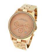 NEW WOMENS MARC by MARC JACOBS (MBM3118) HENRY ROSE GOLD GLITZ WATCH - £114.98 GBP