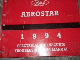 1994 FORD AEROSTAR VAN Wiring Diagrams Electrical Service Shop Manual EV... - $3.95
