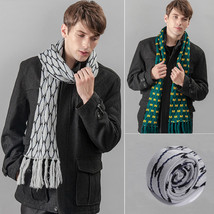 Winter New Scarf Men Soft Neck Wrap Stole Shawl Long Plaid Scarves Free ... - ₹608.04 INR