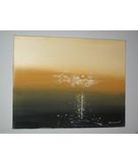 "ORIGINAL 14"" SEASCAPE MODERN SIGNED CANVAS PAINTING  -: rdoward fine art - $48.51"