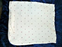 Vintage Gymboree Baby Blanket White Cotton Red Yellow Star Ball Circus E... - $79.19