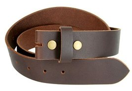100% Solid Cowhide Black Leather Belt Strap (Brown, 32) - $15.83
