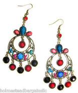 Crystal Chandelier Vintage Design Long Dangle Drop Earrings #1 - $12.86