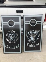 Raiders Corn Hole Boards - Bean Bag Toss Game - $217.80