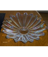 Fostoria Heirloom Clear Iridescent Glass Dish Bowl Flower Shape Petal De... - $45.00