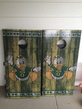 Oregon Ducks Corn Hole Boards - Bean Bag Toss Game - $217.80