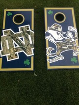 Norte Dame Corn Hole Boards - Bean Bag Toss Game - $217.80