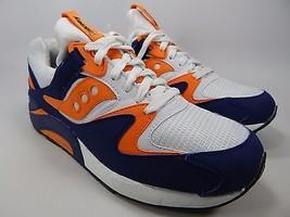 Saucony Grid 9000 Retro Men's Shoes Sz US 9 M (D) EU 42.5 White Blue S70077-35