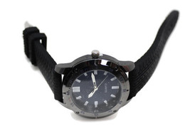 Mens Rubber Strap Watch Blue Face Quartz Wristwatch - $24.81