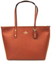 Coach Saddle Brown Crossgrain City Leather Zip Top Closure Tote & Shopper  - $335.99