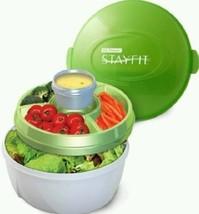 Lunch Work Break Deluxe Salad Kit Healthy Veggie Dressing Portable Lid C... - €19,56 EUR