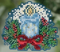 Candlelight Winter 2015 seasonal ornament kit cross stitch Mill Hill - $6.75