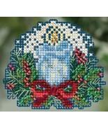 Candlelight Winter 2015 seasonal ornament kit cross stitch Mill Hill - $6.75