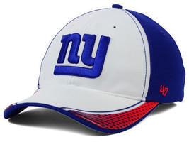 """New York Giants NFL 47' Brand """"Closer"""" Multi Color Stretch Fitted Hat New - $17.95"""
