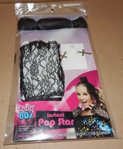 Halloween Adult Instant Pop Star Rockin 80's Accessory Bow Gloves Earrings 117H - $12.49