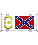 Confederate Flag North Carolina Tag Sign Licens... - $18.99