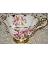 Royal Albert Bone China-Tea Cup ONLY-Pink Morning Glories w/ Gold-England -50's - $11.00