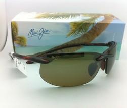 Auténtico Maui Jim Gafas de Sol Banyans Mj 412-10 Carey Monturas con / Bronce