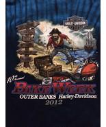 Harley Davidson Outer Banks Bike Week T-Shirt Sz 2XL  Great Colors! Fron... - $16.98