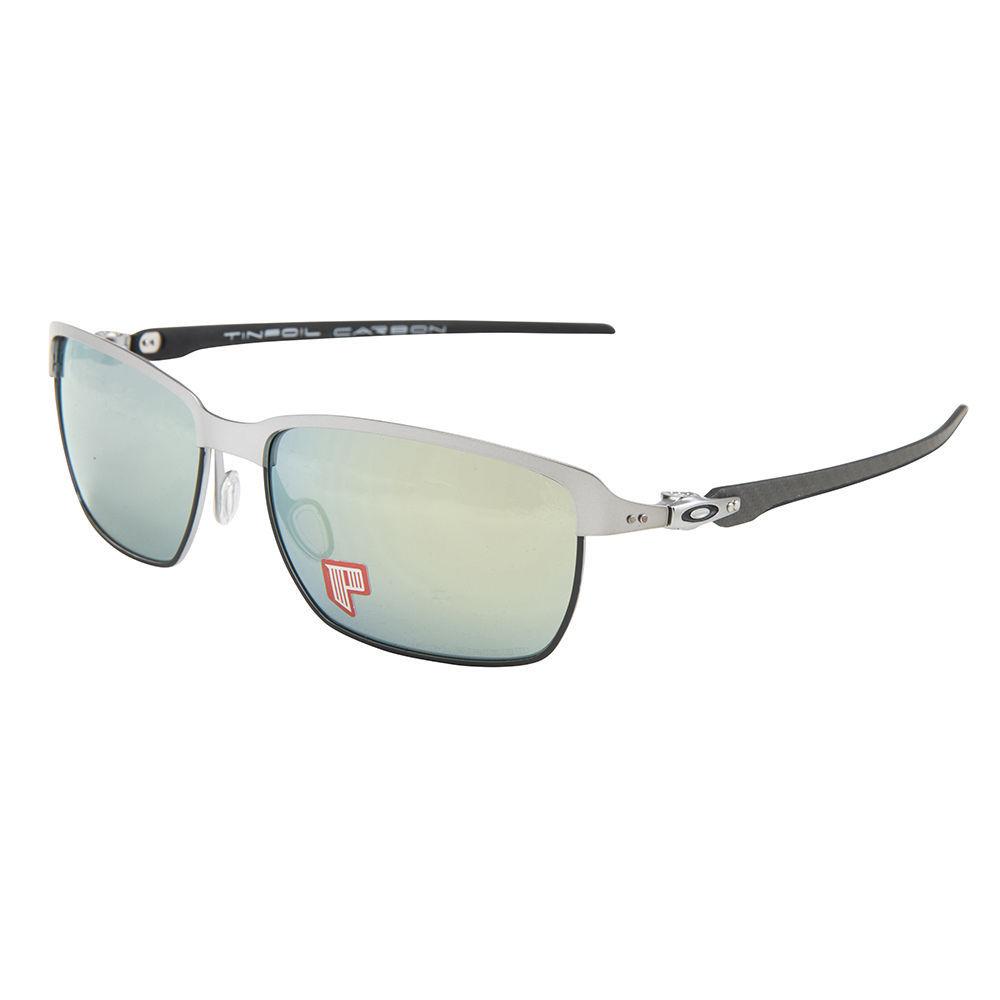 Oakley Sunglasses Tinfoil Carbon Lead Black/Emerald Iridium Polarized 6018-04