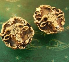 STUNNING Taurus Cufflinks LARGE Bull stars constelllation Horoscope Coin... - $175.00