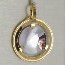 Pendentif Médaille or Jaune Blanc 750 18K, Madone Et Christ, Marie Et Jésus image 3
