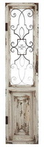 """Large 67"""" ARCHITECTURAL Tuscan~ Metal/Wood Pediment Wall Decor Door Orna... - $717.75"""