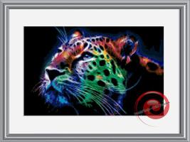 Fractal Tiger Cross Stitch Pattern, Instant Download PDF - $9.00