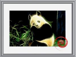 Fractal Panda Cross Stitch Pattern, Instant Download PDF - $9.00