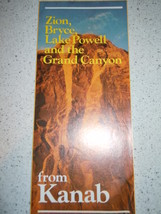 From Kanab Zion Bryce Lake Powell and The Grand Canyon Brochure - $3.99