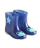 Cute Starry Kids' Rain Boots Blue Frog Children Rainy Days Shoes 18CM - £18.83 GBP