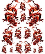 Rockabilly Tattoo Art Guitar Dragon Waterslide Decal 5 - $9.95