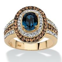 Crystal SWAROVSKI ELEMENTS 18k Gold over .925 Silver Ring - €55,46 EUR