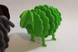 Clever Irish Hand Made 3D Sheep Shape Felt Coaster Quirky Gadget Handmade Eire - $12.60