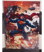 DC Superman Glossy Print 11 x 17 In Hard Plasti... - $24.99