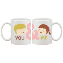 You And Me Matching Couple Mugs Cute Graphic Design Ceramic Coffee Mug Cup 11 oz - $24.99