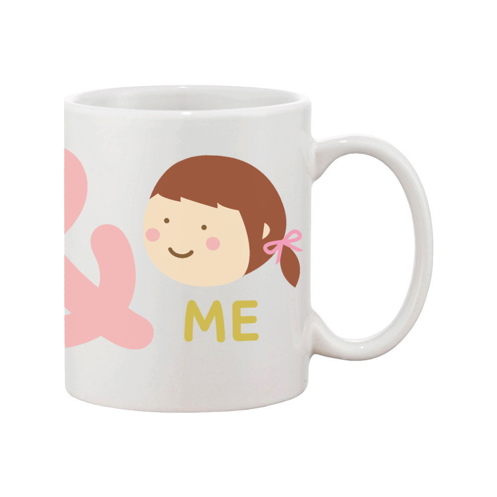 You And Me Matching Couple Mugs Cute Graphic Design