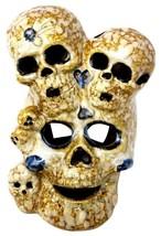 "Skull Rare Vintage Head Stack Sculpture Statue Ceramic Grade A 8.5""H - $53.99"