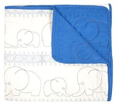 Tadpoles Quilted Baby Blanket, Blue, Small - $23.69 CAD