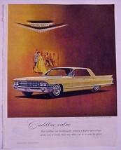 "1962 Print Ad Cadillac Sedan de Ville Jeweled ""V"" & Crest Black, Starr &... - $12.95"