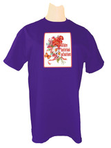 Purple T Shirt W/ Flowers Red Hats Butterfly Red Hatters Reach For Hand  Sz 3 X  - $18.79
