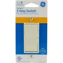 GE General Electric Designer Decora 1 pole or 3 pole Light Almond Switch 18270 - $4.95+