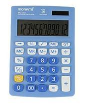 Monami MC-102 12 Digits Dual Powered Standard Function Desktop Calculator (Blue)