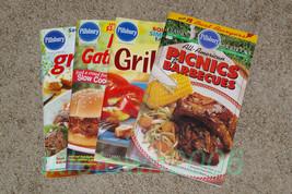 Lot of 4 Pillsbury Classic Cookbooks Grilling Gatherings Picnics & Barbe... - $11.99