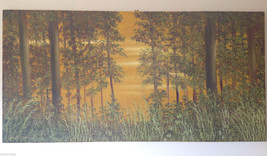 Vivian Gaines Tanner, 1997 Original Art Oil on Canvas Forest Landscape Painting