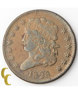 1828 Classic Head Half Cent (Very Fine, VF) 13 ... - $84.15