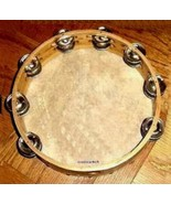 Church TAMBOURINES 10 Inches CP Brand New Double Row Jingles, Goat Skin ... - $17.05