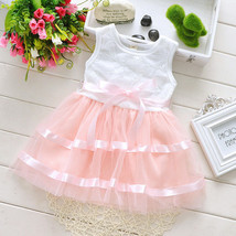New Baby Girls Party Dress in Lilac Pink and Bl... - $13.73