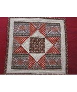 Handmade Piecework Center Piece Mat from Amish Country  14 inches square  - $14.99
