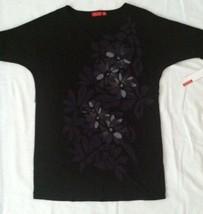 ELLE Rock Couture Boho Hippie Gypsy Black Dress Sz S NWT #S4 - $23.36